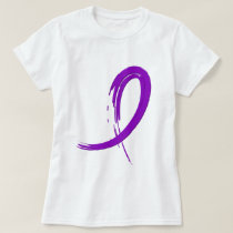 Crohn's Disease Purple Ribbon A4 T-Shirt