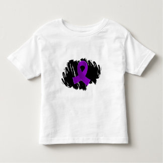 Crohn's Disease Purple Ribbon With Scribble Shirt