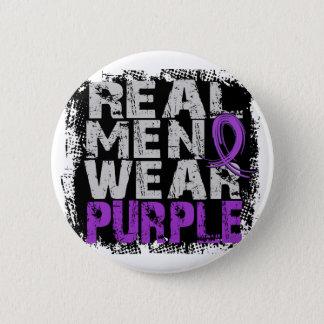 Crohn's Disease Real Men Wear Purple Pinback Button