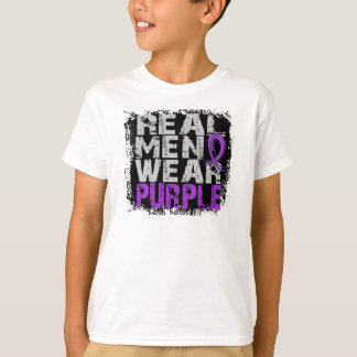 Crohn's Disease Real Men Wear Purple T-Shirt