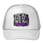 Crohn's Disease Real Men Wear Purple Trucker Hat