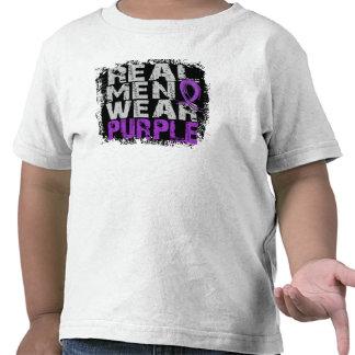 Crohn's Disease Real Men Wear Purple Tshirts