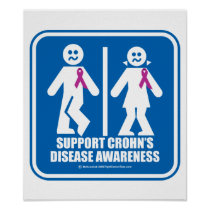 Crohn's Disease Restroom Sign