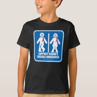 Crohn's Disease Restroom Sign T-Shirt