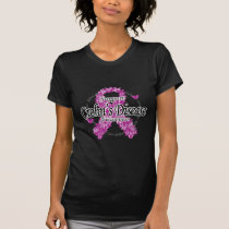 Crohn's Disease Ribbon of Butterflies T-Shirt