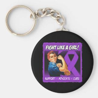 Crohn's Disease Rosie Riveter Fight Like A Girl Key Chain