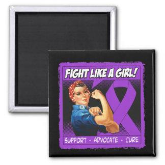 Crohn's Disease Rosie Riveter Fight Like A Girl Magnets