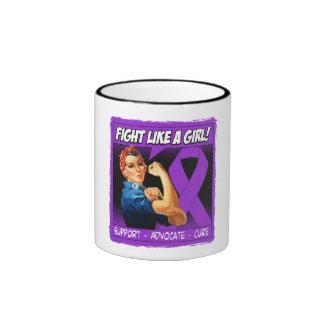 Crohn's Disease Rosie Riveter Fight Like A Girl Coffee Mug