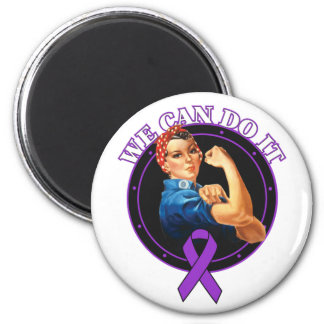 Crohn's Disease - Rosie The Riveter - We Can Do It Refrigerator Magnets