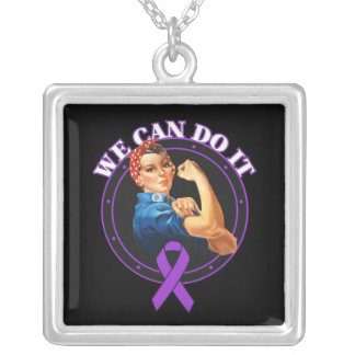 Crohn's Disease - Rosie The Riveter - We Can Do It Custom Necklace