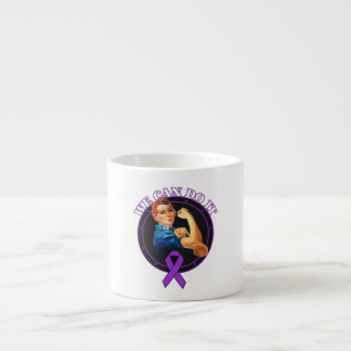 Crohn's Disease - Rosie The Riveter - We Can Do It 6 Oz Ceramic Espresso Cup
