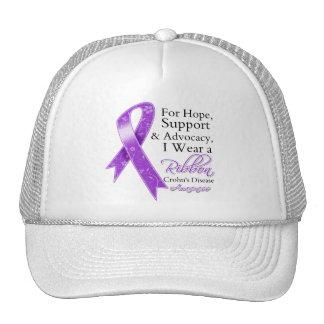 Crohn's Disease Support Hope Awareness Trucker Hat