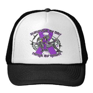 Crohns Disease Survivor By Day Ninja By Night Trucker Hat