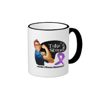 Crohns Disease Take a Stand Ringer Coffee Mug
