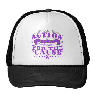 Crohn's Disease Take Action Fight For The Cause Trucker Hat