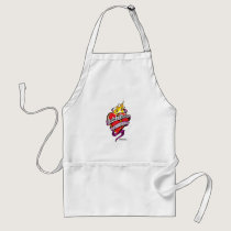 Crohn's Disease Tattoo Heart Adult Apron