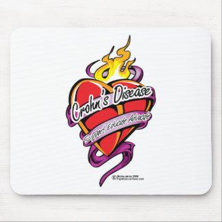 Crohn's Disease Tattoo Heart Mouse Pad