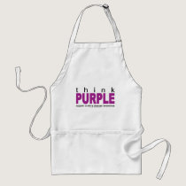 Crohn's Disease Think Purple Adult Apron