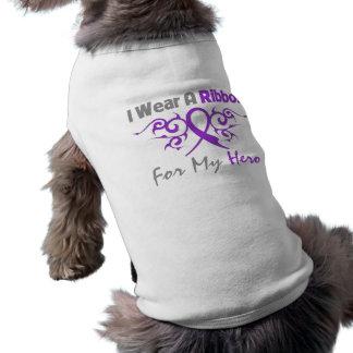 Crohn's Disease Tribal Deco Ribbon Hero Pet T Shirt