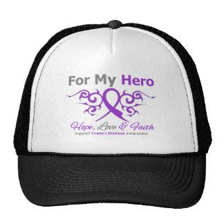 Crohn's Disease Tribal Ribbon Hero Hat