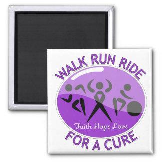 Crohn's Disease Walk Run Ride For A Cure Fridge Magnet