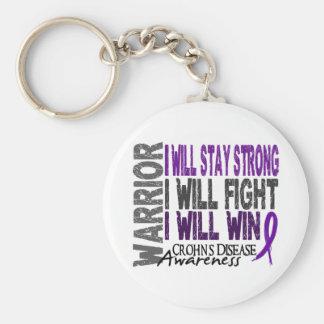 Crohn's Disease Warrior Basic Round Button Keychain