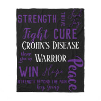 Crohn's Disease Warrior blanket
