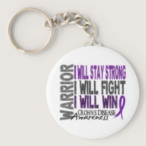 Crohn's Disease Warrior Keychain