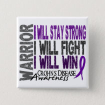 Crohn's Disease Warrior Pinback Button