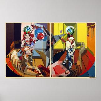 Croisees de los jambes del femme homme de Federico Poster