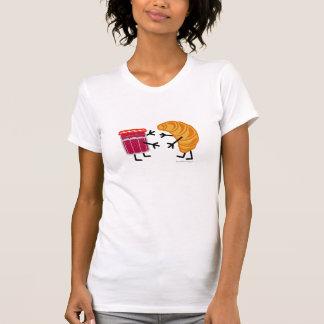 Croissant and Jam - Customizable Tee Shirt