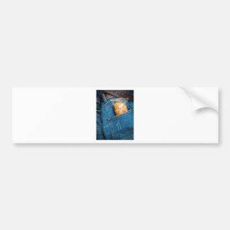 Croissant in your pocket bumper sticker