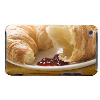 Croissant with jam on a plate barely there iPod case