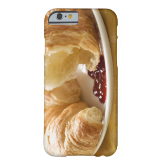 Croissant with jam on a plate barely there iPhone 6 case