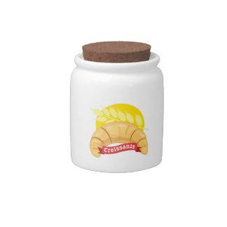 Croissants Candy Jars