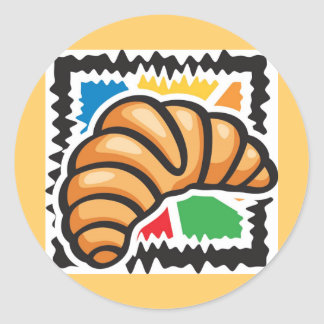 Croissants Classic Round Sticker