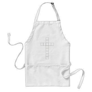 croix 2 grise fond blanc adult apron