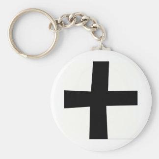 Croix 4 noire fond noir keychain