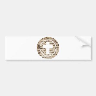 Croix dans cercle Ecriture TRANS PNG Bumper Sticker