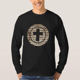 Croix dans cercle Ecriture TRANS PNG T-shirt