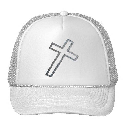 Croix penchée métal trucker hat