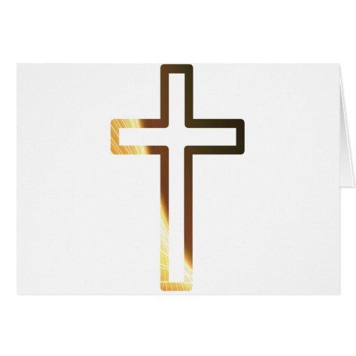 Croix refflets dorés card