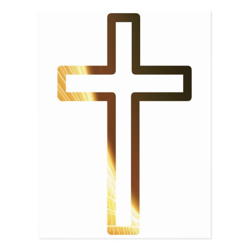 Croix refflets dorés postcard