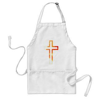 Croix refflets orange adult apron