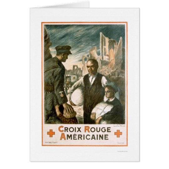 Croix Rouge Américain (American Red Cross) Card