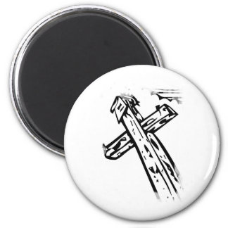Croix sous le ciel 2 inch round magnet