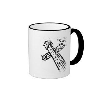Croix sous le ciel ringer mug