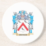 Croker Coat of Arms - Family Crest Beverage Coasters