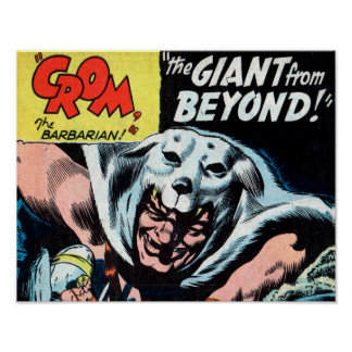 Crom and the Gian from Beyond Art Print #1