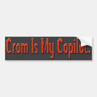 Crom es mi copiloto etiqueta de parachoque